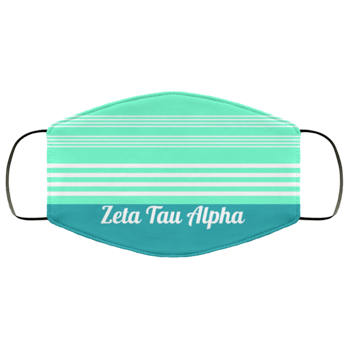 Zeta Tau Alpha Two Tone Stripes Face Mask Zeta Tau Alpha Two Tone Stripes Face Mask