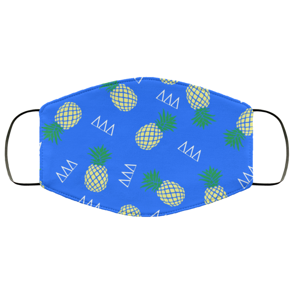 Delta Delta Delta Pineapples Face Mask Delta Delta Delta Pineapples Face Mask