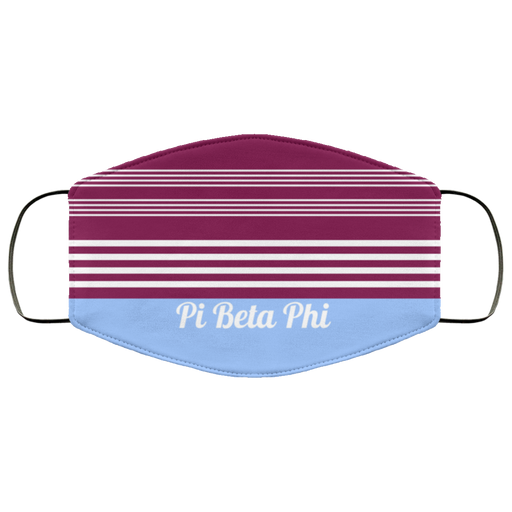 Pi Beta Phi Two Tone Stripe Face Mask
