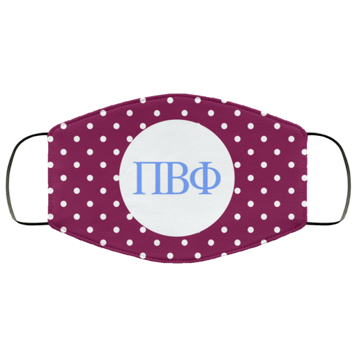 Pi Beta Phi Polka Dots Face Mask