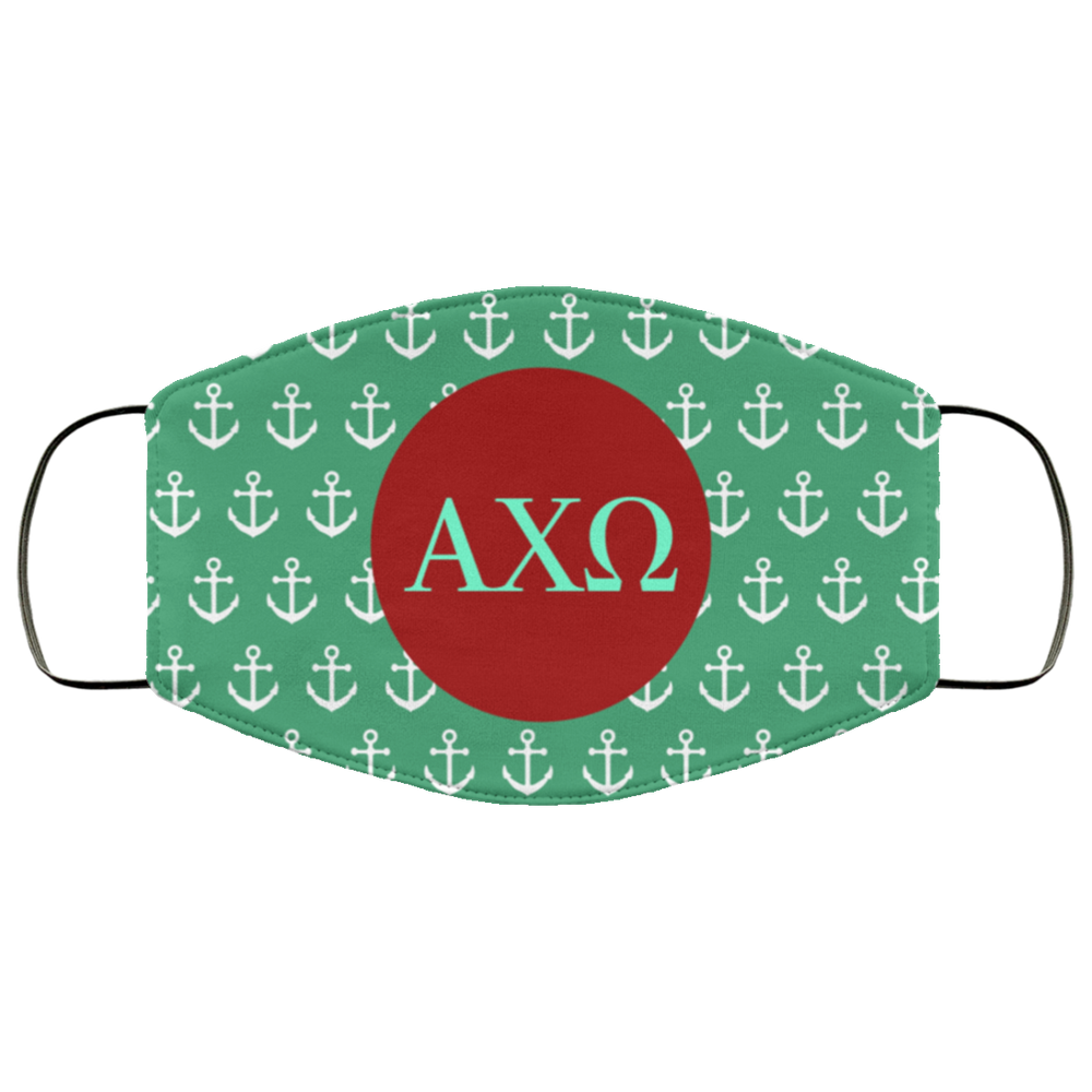Alpha Chi Omega Anchors Face Mask Alpha Chi Omega Anchors Face Mask