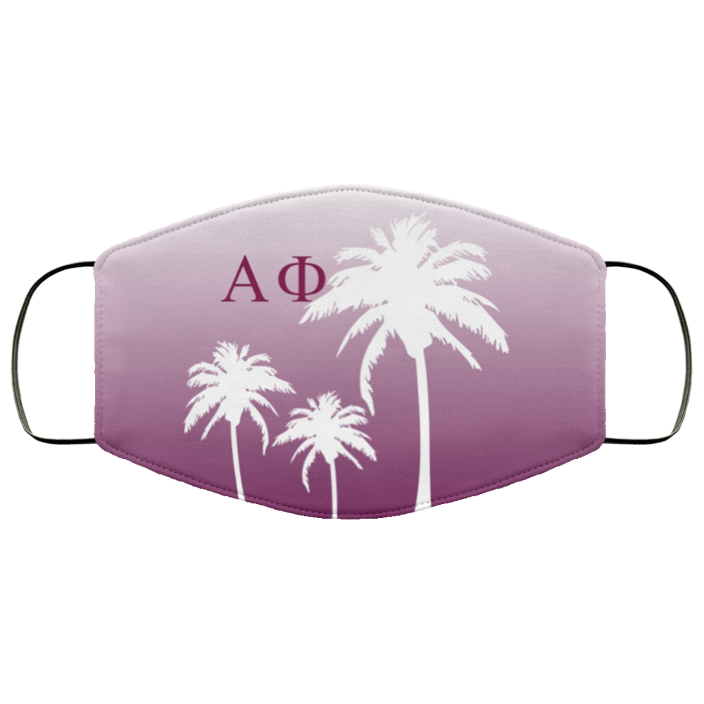 Alpha Phi Palm Trees Face Mask Alpha Phi Palm Trees Face Mask