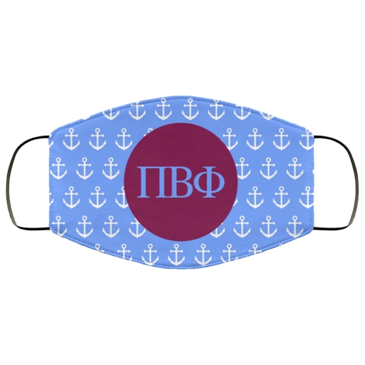 Pi Beta Phi Anchors Face Mask