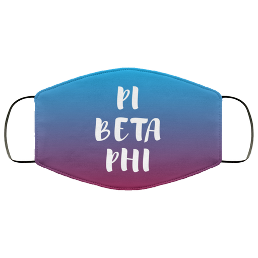Pi Beta Phi Faded Face Mask
