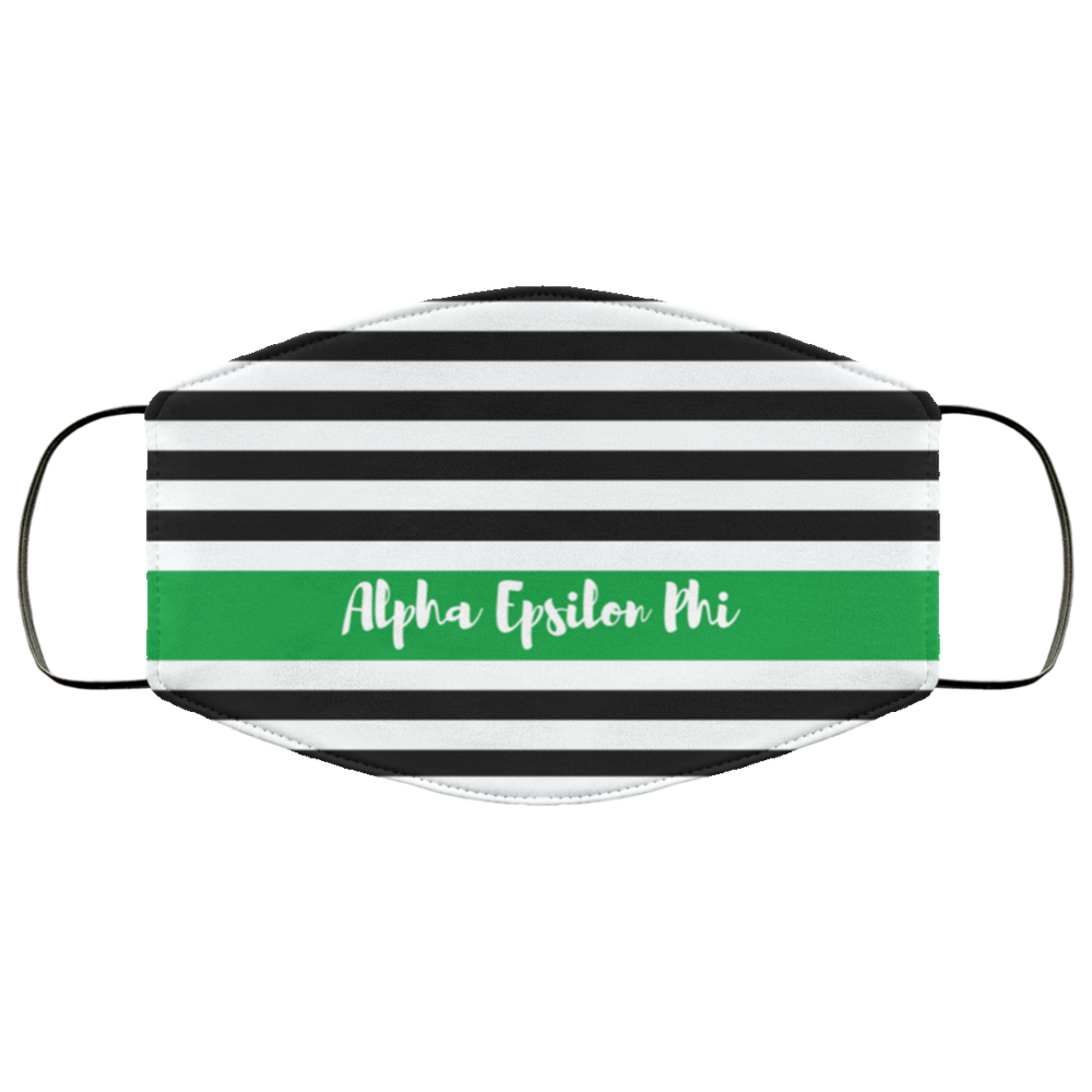 Alpha Epsilon Phi Stripes Face Mask Alpha Epsilon Phi Stripes Face Mask