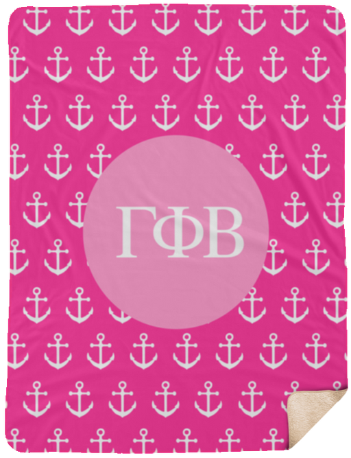 Gamma Phi Beta Anchor Sherpa Blanket - 60x80