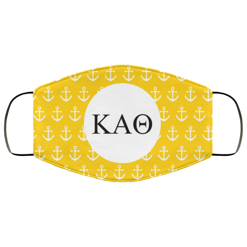 Kappa Alpha Theta Anchors Face Mask Kappa Alpha Theta Anchors Face Mask