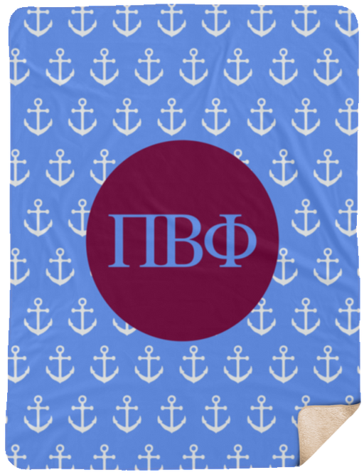 Pi Beta Phi Anchor Sherpa Blanket - 60x80