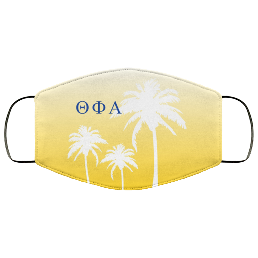 Theta Phi Alpha Palm Trees Face Mask Theta Phi Alpha Palm Trees Face Mask