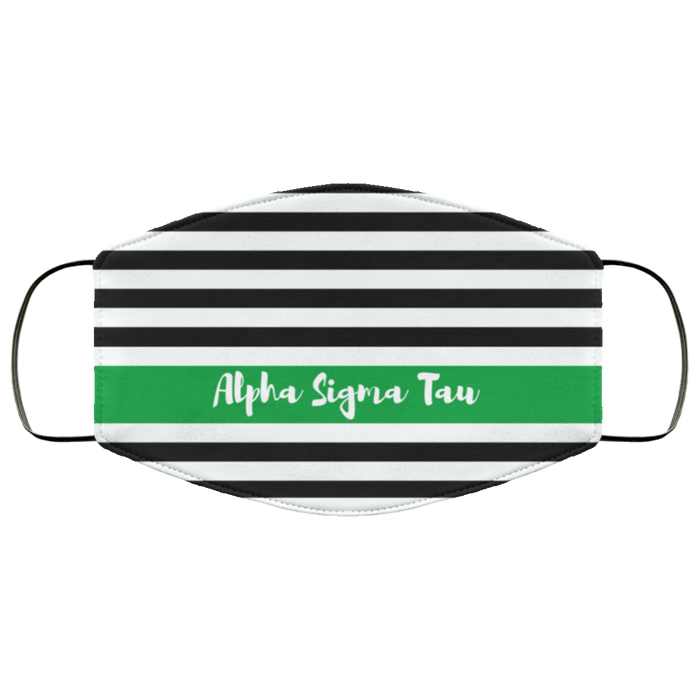Alpha Sigma Tau Stripes Face Mask Alpha Sigma Tau Stripes Face Mask