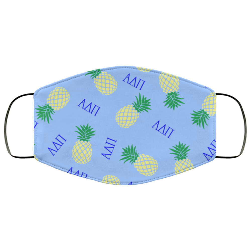 Alpha Delta Pi Pineapples Face Mask Alpha Delta Pi Pineapples Face Mask