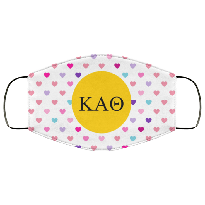Kappa Alpha Theta Hearts Face Mask Kappa Alpha Theta Hearts Face Mask