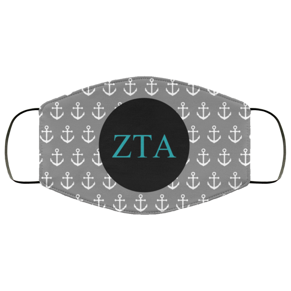 Zeta Tau Alpha Anchors Face Mask Zeta Tau Alpha Anchors Face Mask
