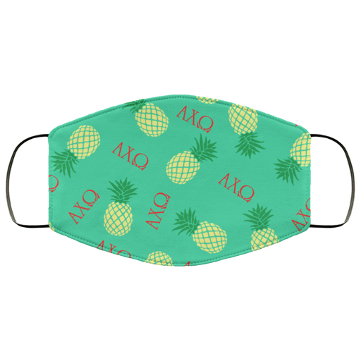 Alpha Chi Omega Pineapples Face Mask