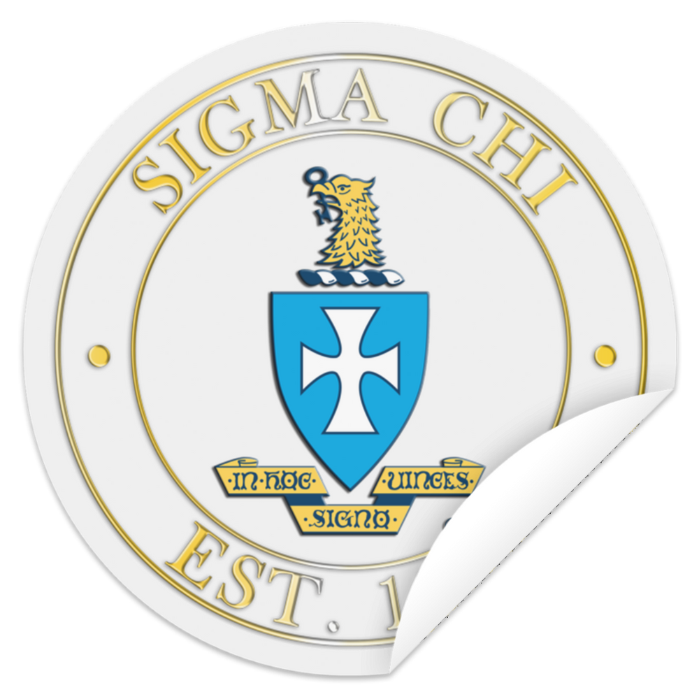 Sigma Chi Crest Circle Sticker Sigma Chi Crest Circle Sticker