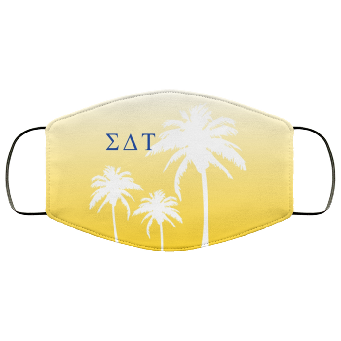 Sigma Delta Tau Palm Trees Face Mask Sigma Delta Tau Palm Trees Face Mask