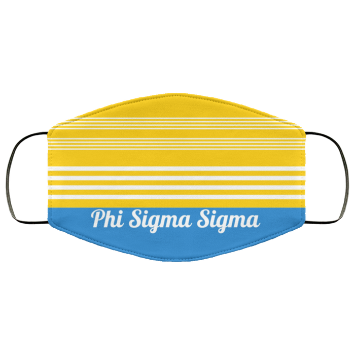 Phi Sigma Sigma Two Tone Stripes Face Mask Phi Sigma Sigma Two Tone Stripes Face Mask
