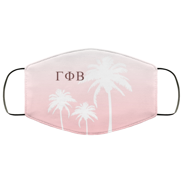 Gamma Phi Beta Palm Trees Face Mask Gamma Phi Beta Palm Trees Face Mask