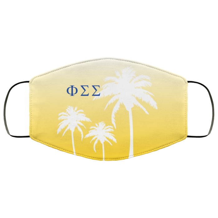 Phi Sigma Sigma Palm Trees Face Mask Phi Sigma Sigma Palm Trees Face Mask