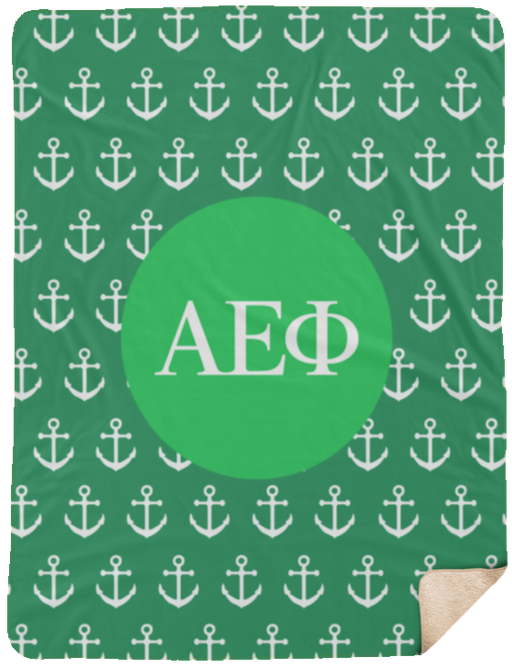 Alpha Epsilon Phi Anchor Sherpa Blanket - 60x80