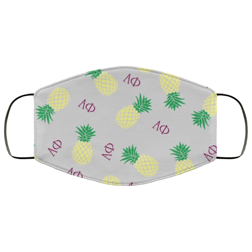 Alpha Phi Pineapples Face Mask Alpha Phi Pineapples Face Mask