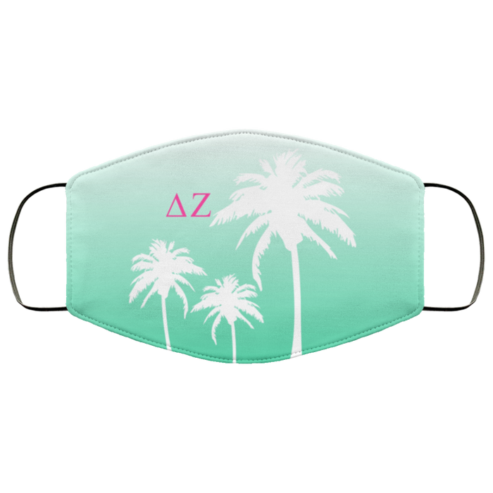Delta Zeta Palm Trees Face Mask Delta Zeta Palm Trees Face Mask