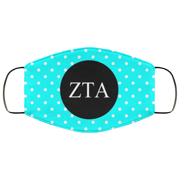 Zeta Tau Alpha Polka Dots Face Mask Zeta Tau Alpha Polka Dots Face Mask