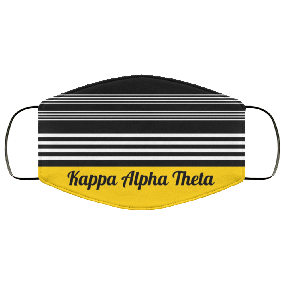 Kappa Alpha Theta Two Tone Stripe Face Mask Kappa Alpha Theta Two Tone Stripe Face Mask