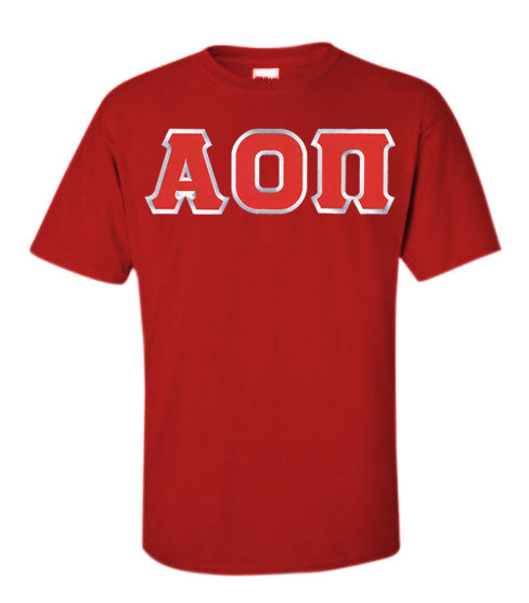 Alpha Omicron Pi Lettered T Shirt