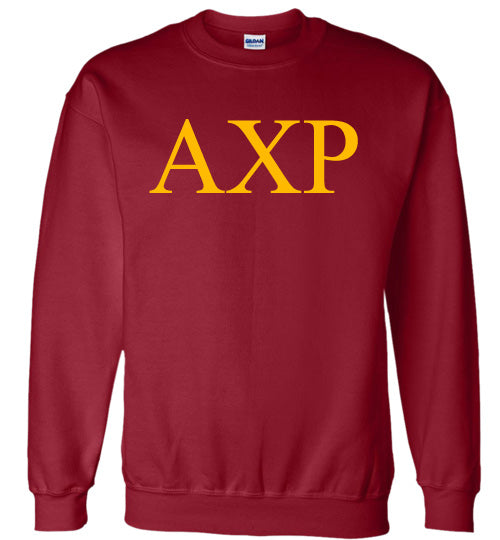 Alpha Chi Rho World Famous Lettered Crewneck Sweatshirt