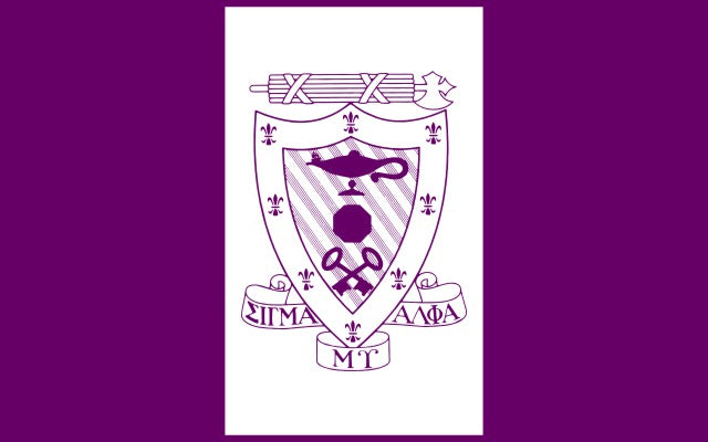 Sigma Alpha Mu Fraternity Flag Sticker