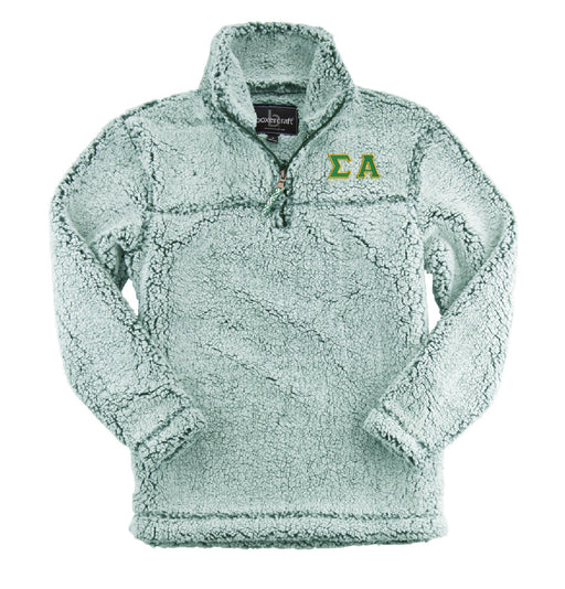 Sigma Alpha Embroidered Sherpa Quarter Zip Pullover