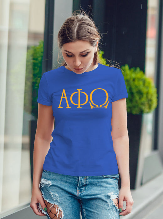 Alpha Phi Omega University Letter T-Shirt