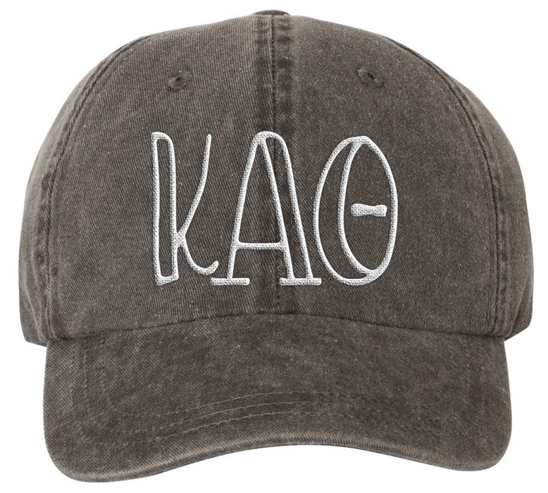 Kappa Alpha Theta Sorority Greek Carson Embroidered Hat