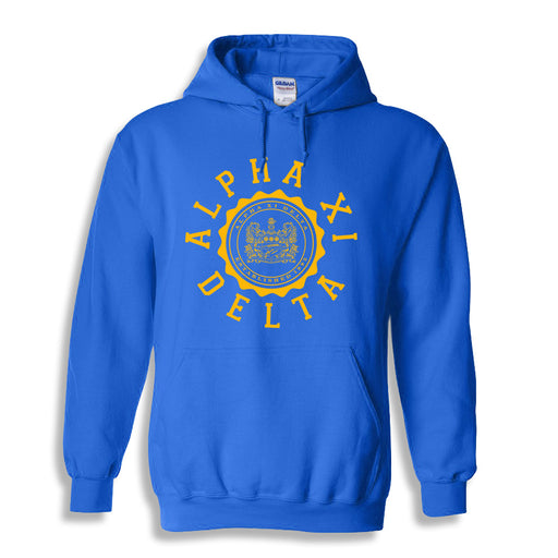 Alpha Xi Delta World Famous Seal Crest Hoodie