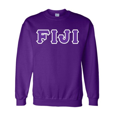 Fiji Classic Colors Sewn-On Letter Crewneck
