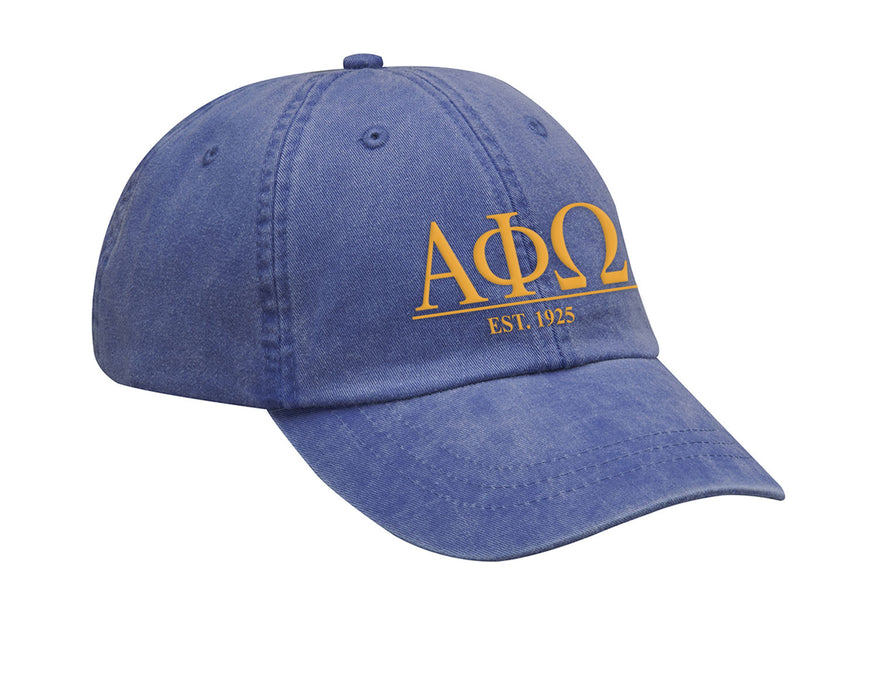 Alpha Phi Omega Letters Year Embroidered Hat