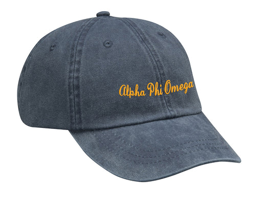 Alpha Phi Omega Cursive Embroidered Hat