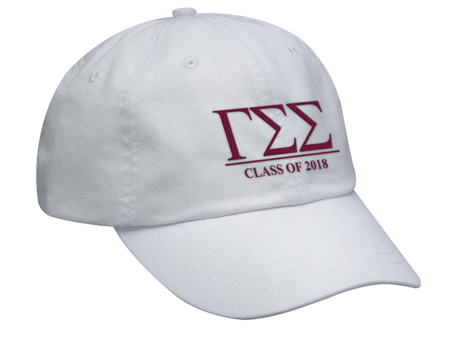 Gamma Sigma Sigma Embroidered Hat with Custom Text