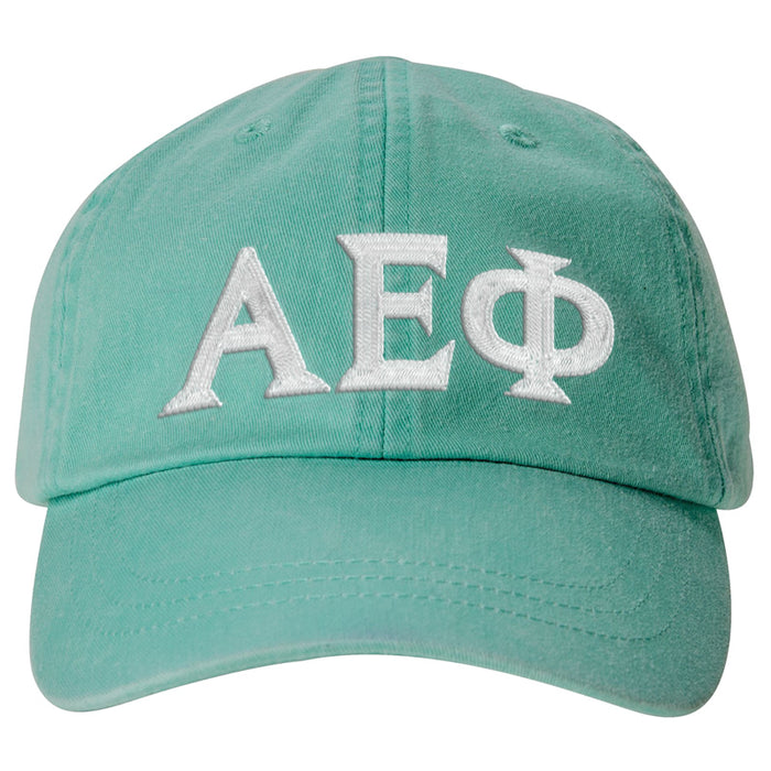 Alpha Epsilon Phi Greek Letter Embroidered Hat