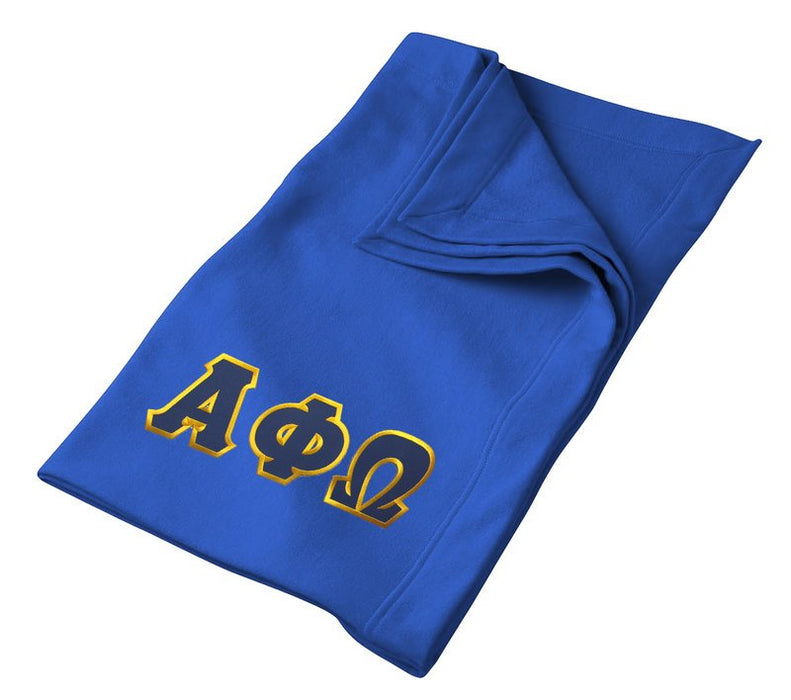 Alpha Phi Omega Greek Twill Lettered Sweatshirt Blanket
