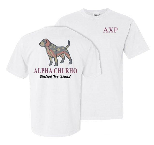 Alpha Chi Rho Stand Tall Comfort Colors Heavy Tee
