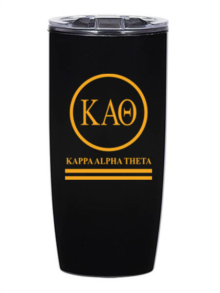 Kappa Alpha Theta Circle Stripes 19 oz Everest Tumbler