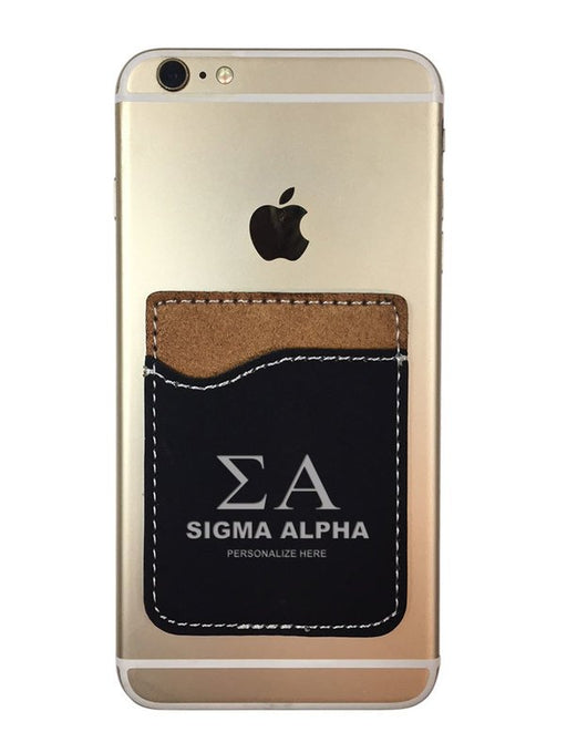 Sigma Alpha Engraved Phone Wallet