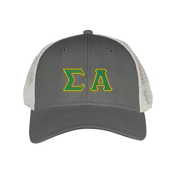 Sigma Alpha Greek Trucker Cap