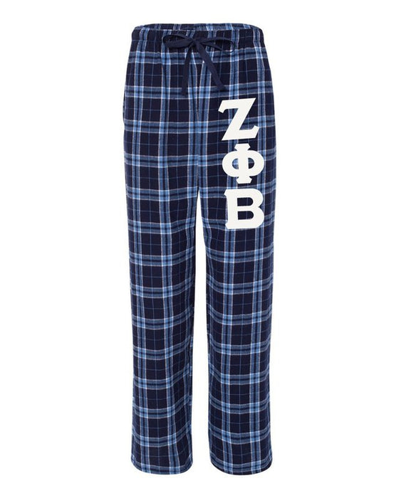 Zeta Phi Beta Pajama Pants with Sewn-On Letters