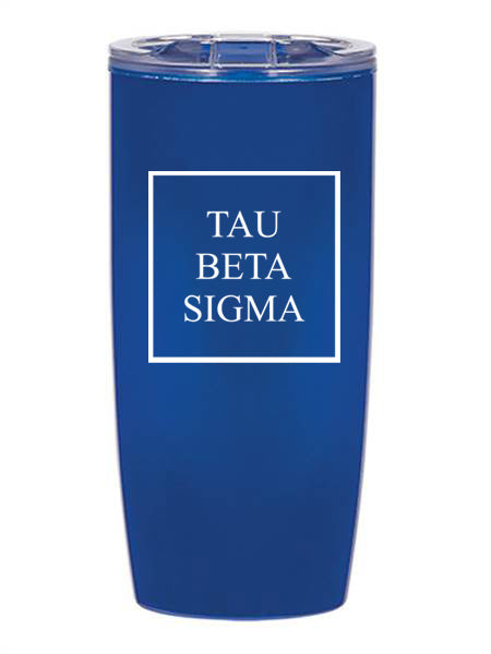 Tau Beta Sigma Box Stacked 19 oz Everest Tumbler