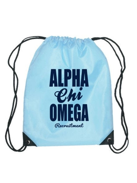 Alpha Chi Omega Cursive Impact Sports Bag