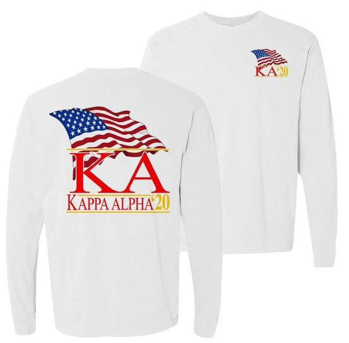 Kappa Alpha Patriot Flag Comfort Colors Long Tee