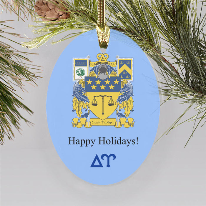 Delta Upsilon Color Crest Ornament